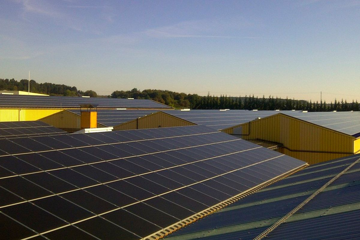 Imagen de la instalación fotovoltaica realizada
