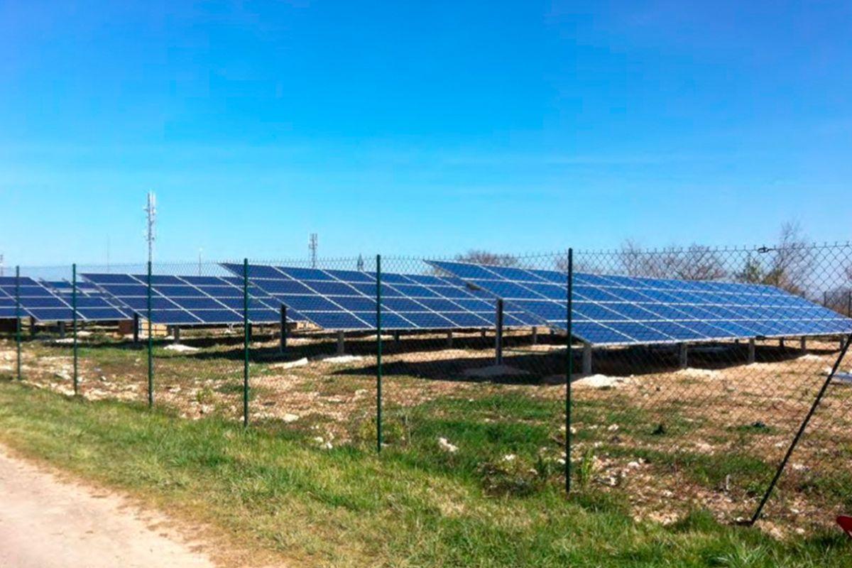 Imagen de la planta solar fotovoltaica